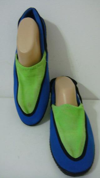 Zapatillas Nauticas 45 (usa12) Azul Verde (plantilla 29.5cm)