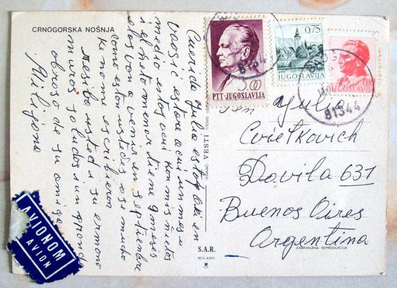 Yugoeslavia - Postal Enviada A Buenos Aires 1975 L2974
