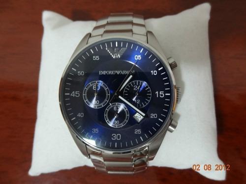 Relógio Emporio Armani Ar5860 Blue Dial Chronograph