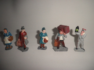 Soldadito Plomo Hueco Eg Toys Pasajeros Ferrocarril X Unidad
