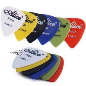 Kit Palhetas Para Guitarra Violão 60 Unidades Marca Alice