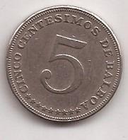 Panama Moneda De 5 Centesimos De Balboa Año 1968