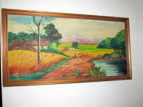 Antiguo Cuadro Pintado Al Oleo Firmado Año 1961