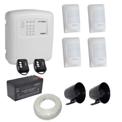Kit Alarme Casa / Comercio Ecp 4 Sensores Sem Fio Discadora
