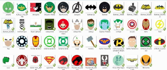 Vetores E Imagens Símbolos Super Herois E Vilões