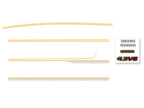 Kit Adesivo Lateral Faixa Completo Blazer Executive 1999
