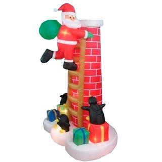 Santa Claus Chimenea Adorno Inflable Para Navidad