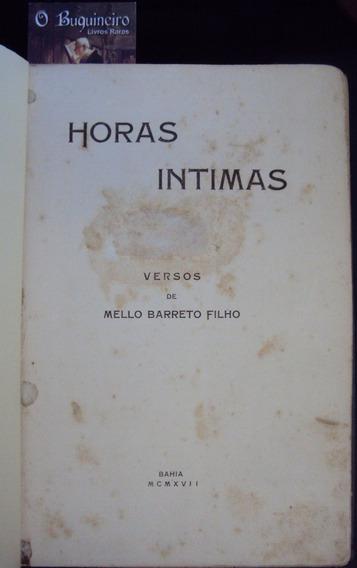 Horas Íntimas - Mello Barreto Filho - 1ª Edição