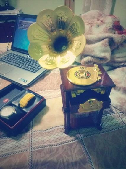 Gramophone Musical - Funciona Como Caixa De Música