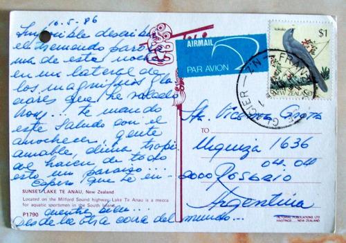 Nueva Zelanda - Postal Enviada Rosario, Argentina 1986 L2982