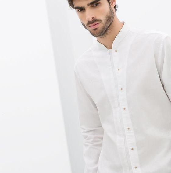 Camisa Hombre 100% Algodón Manga Larga G008