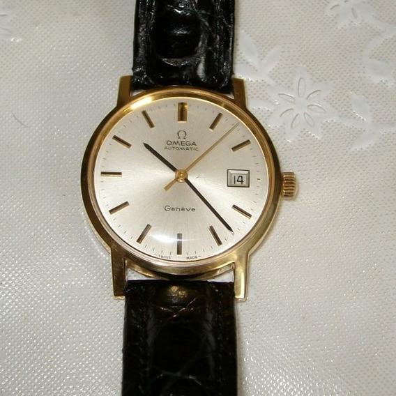 Relógio Masculino Pulso Automatic Omega Genêve - Ouro 18 Kl
