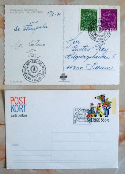 Suecia, Lote Postal Lerum 71 + Entero Postal 71 Nuevo L2983
