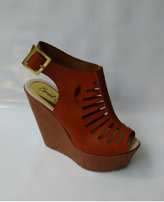 2a8f25e79c7 Zapato Mujer Plataforma Cafe Miel - Zapatos para Mujer en Mercado ...