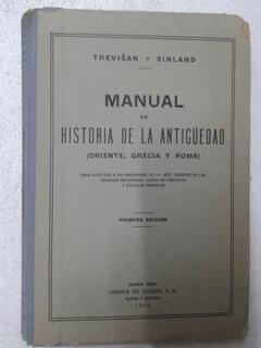Libro Manual De La Historia De La Antigüedad