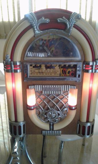 Jukebox, Peça De Decoração, Rádio Am E Fm E Toca Fitas.