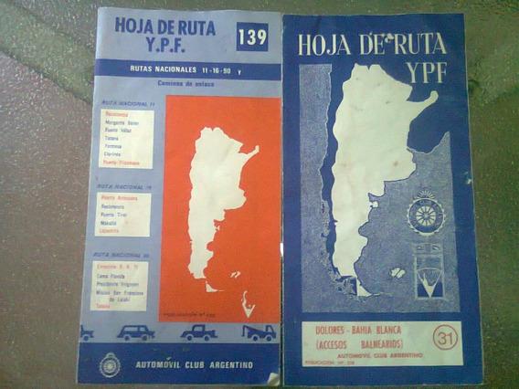 2 Hojas De Rutas Y.p.f