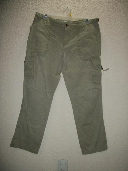 Pantalon Tipo Cargo Express 100% Original 10 36 Camel Dama