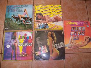 Lote 5 Discos Long Play, Linda Música Del Recuerdo.