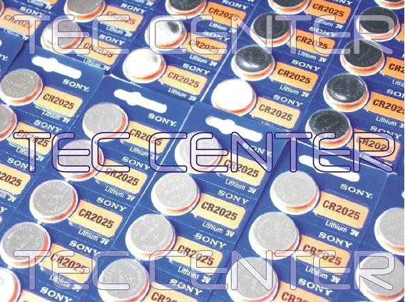 100 Baterias Pilhas Cr2025 Sony Cartela C/5 Unid Original