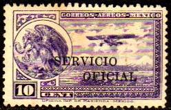 Col 01900 México Aéreo Oficial 24a Sobrecarga H Raro N