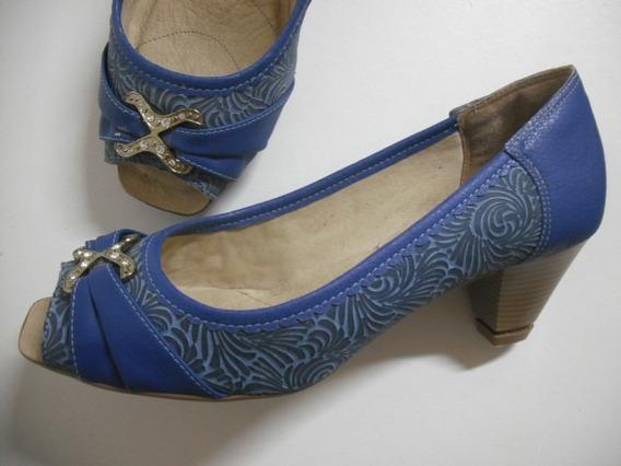 Sapato Feminino Dakota Azul Tam 39 Impecável