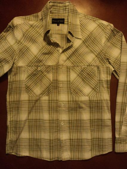 Camisa A Cuadros Phill Green Talle S Algodon