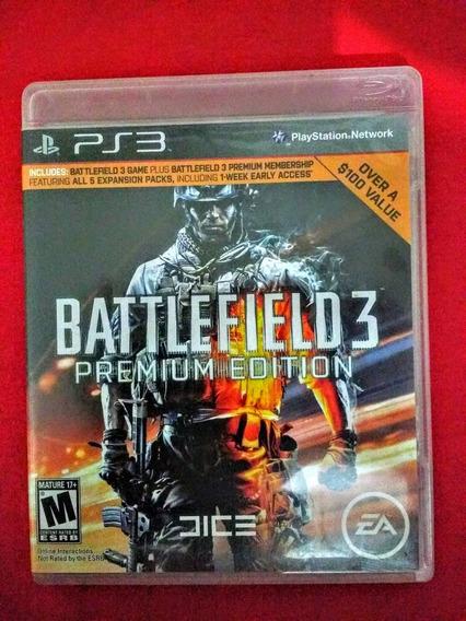Jogo Battlefield 3 Premium Edition Ps3 Fisica Frete:r$10