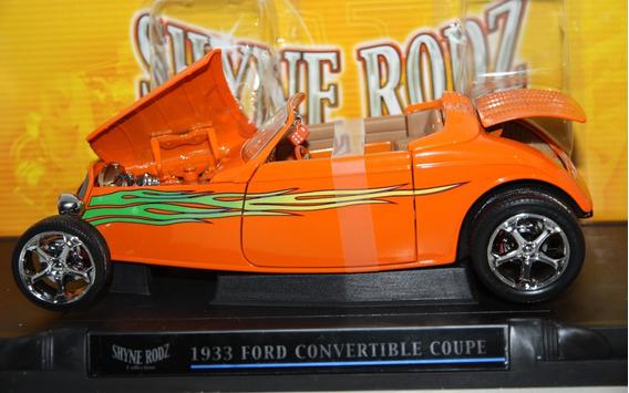 Ford Convertible Coupe 1933 Laranjado 1:18 Yat Ming