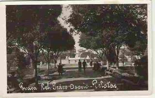 Cartão Postal, Pelotas-rs. Praça Gen. Pedro Osório. P&b