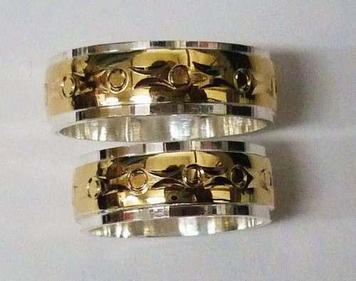 a4fc0026e984 Argollas Matrimonio Plata 925 Oro Diamante Joyas Esmeraldas -   350.000 en  Mercado Libre