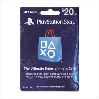 Código Playstation Card 20 Usa Vía Email - Para Ps3 Ps4 Vita