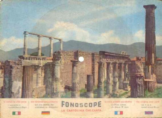 4471 Disco 78 Rpm Em Forma De Cartão Postal De Pompeia Raro!