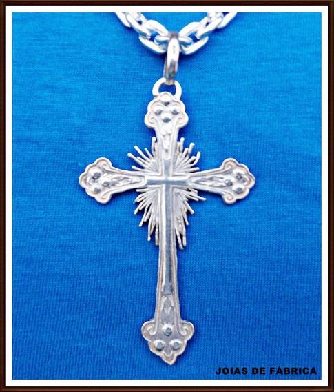 Pingente Cruz Em Prata 950