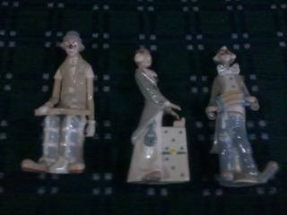 3 Payasos Músicos. Porcelanas Española Casades