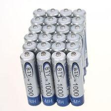 Pila Recargable Aaa Bateria Marca Bty 1000 Ni-mh 1.2v Nuevas