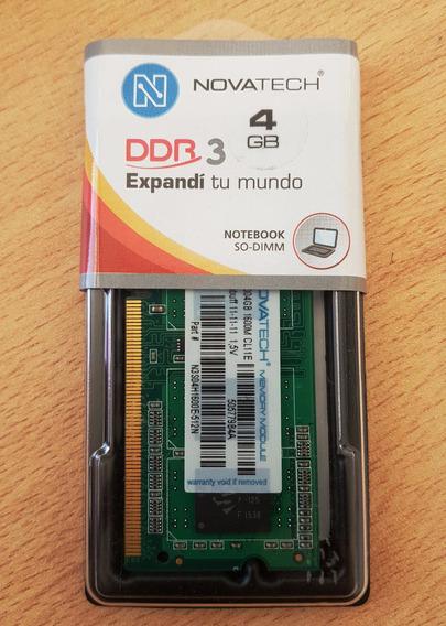 Memoria Sodimm Ddr3 Novatech 4gb Para Notebook