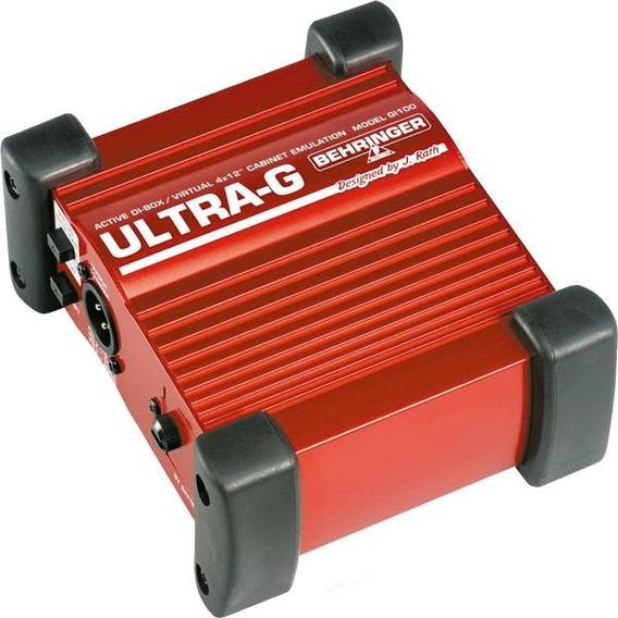 Direct Box Ativo Behringer Gi100 Ultra-g Simulador De Cabine