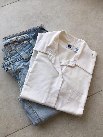 M18. Lote Jean Y Camisa Gap Dkny Importados Usados Mujer