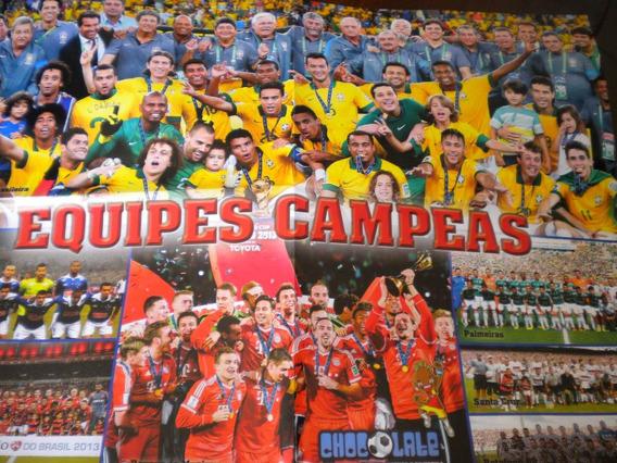 Poster Campeões 2013 Botafogo Santa Cruz Palmeiras Bayern Cr