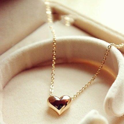Colar Pingente - Coração Folheado A Ouro Rose 18k