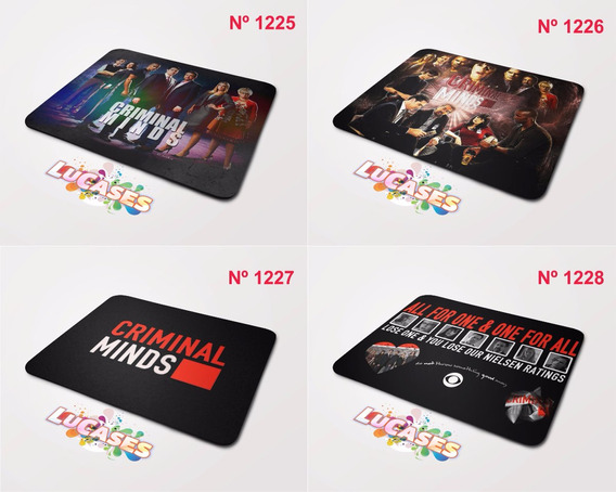Mouse Pad Criminal Minds Serie Fbi Quantico Series Mousepad