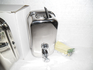 Dispensador De Jabón Líquido 0,5 Litros Inoxidable De Pared