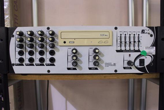Mixer Amplificado Etelj 4 Canais+eq+cd Player Show!