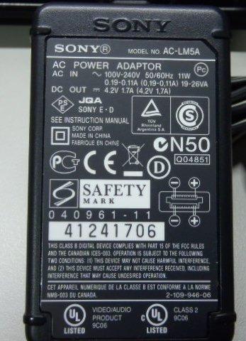 Carregador Sony Dcs-t1 Original