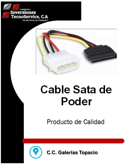 Cable Sata De Poder
