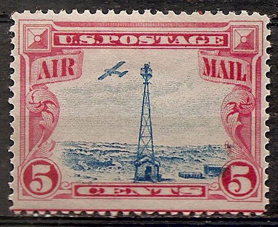 Estados Unidos Aerea Catálogo Yv 11 Goma Y Resto De Bisagra