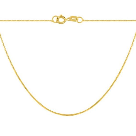 Corrente Ouro 18k Gargantilha Veneziana 50cm - Viagold C50