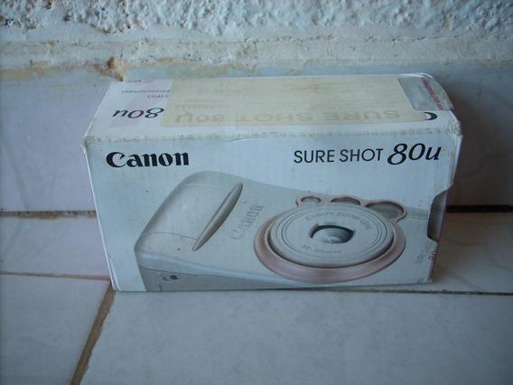 Camara Canon Sure Shot 80u Para Coleccionar Decoracion