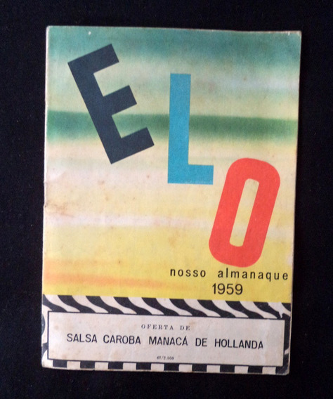 Elo Nosso Almanaque 1959 Antigo